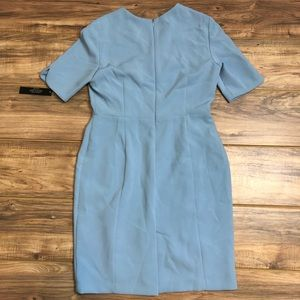1d05c0d4d7bd Tahari Dresses | Asl Envelope Collar Dress Ice Blue Sz 10p | Poshmark